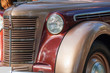 image of a front of a retro car
