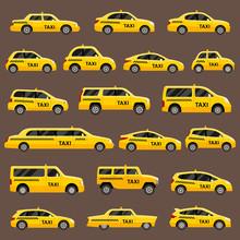 Taxi Types Vector Set