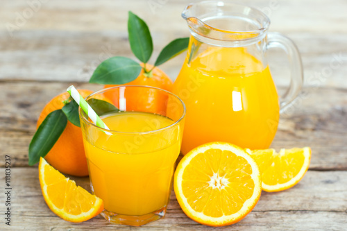Fresh orange juice Wallpaper Mural