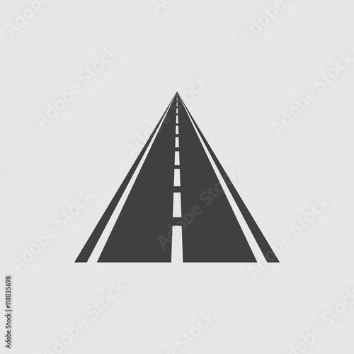 Fototapety, obrazy: road Icon