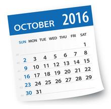 October 2016 Calendar Leaf - I...