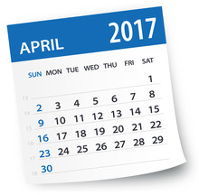 April 2017 Calendar Leaf - Ill...