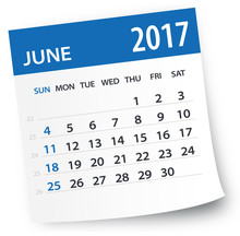 June 2017 Calendar Leaf - Illu...