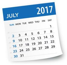 July 2017 Calendar Leaf - Illu...