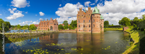 Photo  Egeskov Castle, Funen, Denmark.
