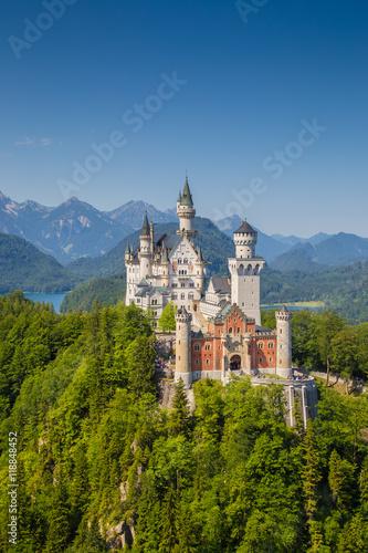 Foto auf Leinwand Schloss Neuschwanstein Castle, Bavaria, Germany