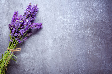lavender on stone