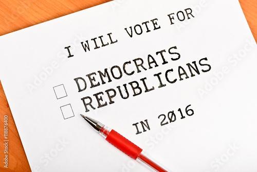 USA election 2016 Poster