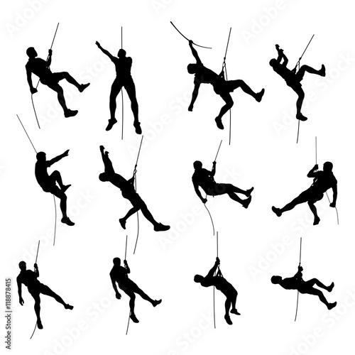 Obraz na plátne climber set silhouette 01