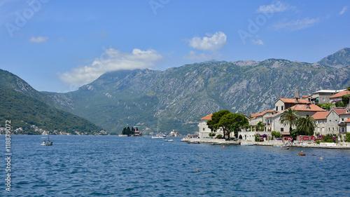 Garden Poster Scandinavia The small historic town of Perast in Kotor Bay, Montenegro.