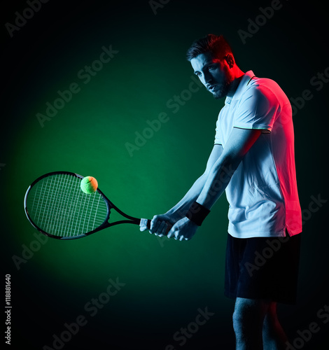 tennis player man isolated Tableau sur Toile