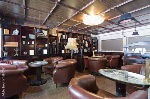 Tuinposter Restaurant Cafe bar interior