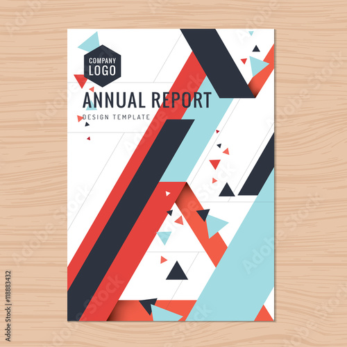 modern clean cover for business proposal annual report brochure