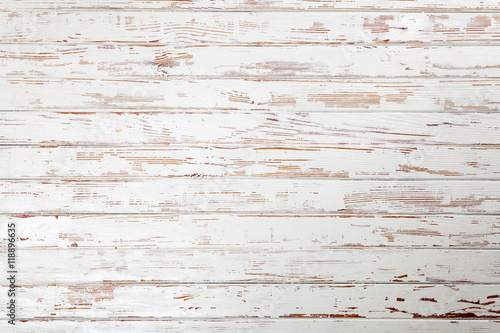 Tuinposter Hout White wooden background