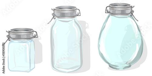 Fényképezés  Jar vector illustration
