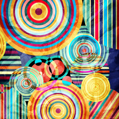 FototapetaWatercolor abstract geometric background