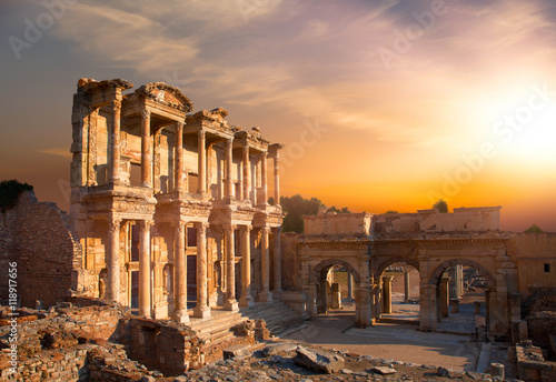 Canvas Prints Ruins Celsus Library in Ephesus, Turkey