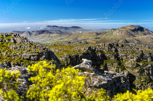 Foto op Canvas Zuid Afrika Republic of South Africa. Cape Town (Kaapstad). Table Mountain's southern slopes - spectacular view from the top of Table Mountain