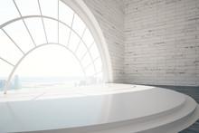 Empty Interior With Round Window