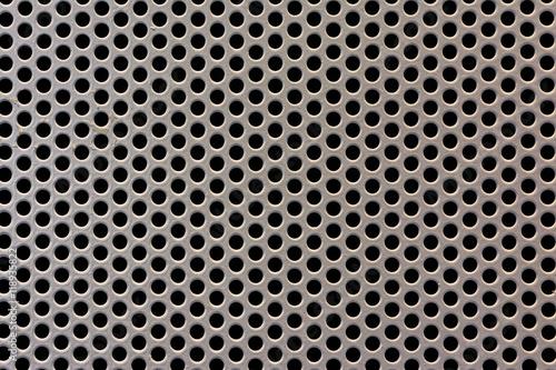 Perforated Metal Sheet Texture Macro Detail Canvas-taulu