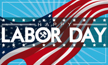 Patriotic Labor Day Banner Wit...