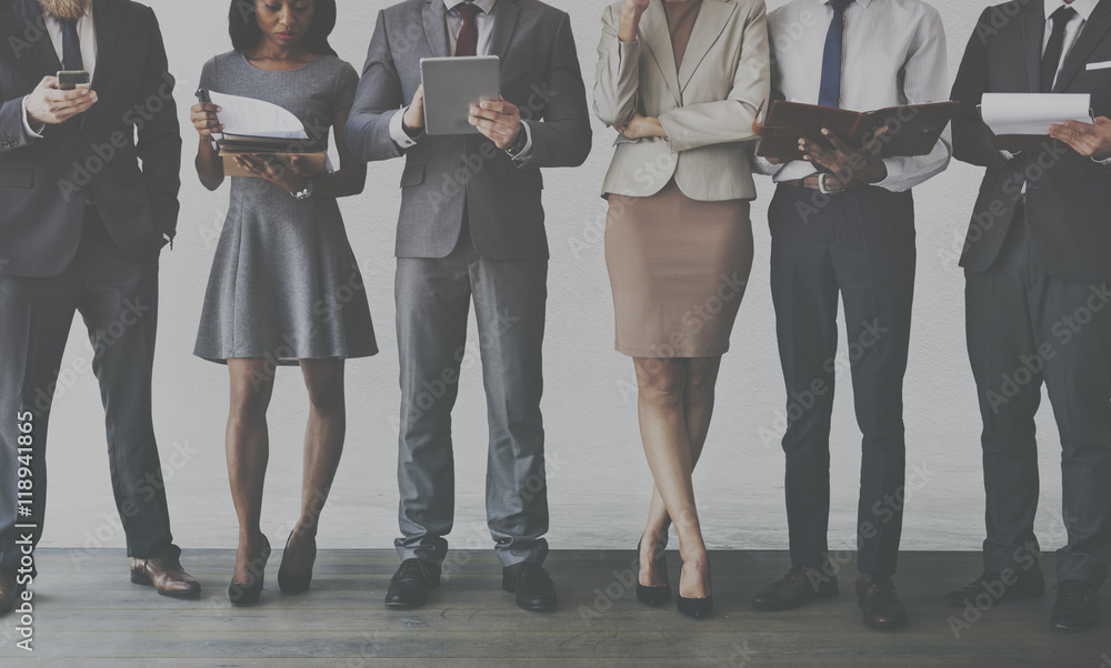 Fototapety, obrazy: Businessmen Businesswomen Management Office Concept