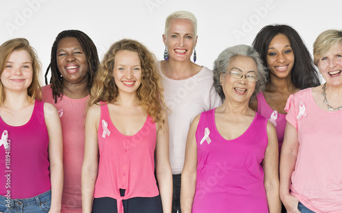 Women Breast Cancer Support Charity Concept Canvas Print