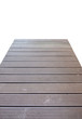 Wooden plank bridge walkway isolated