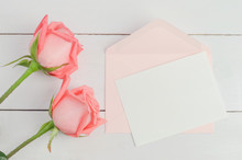 Blank Greeting Card With Pink ...