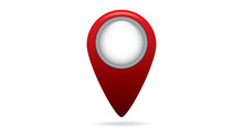 """Map Marker, Geolocation Symbol """"You Are Here"""""""