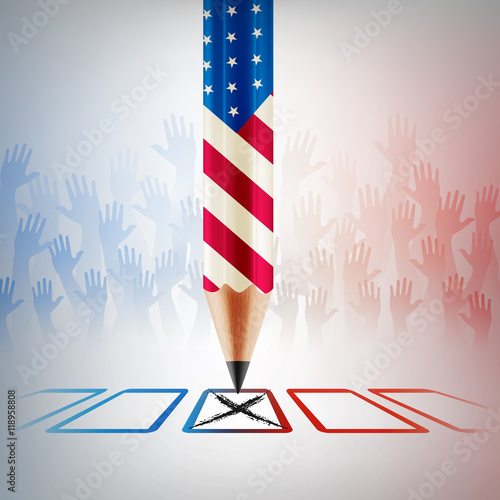 Valokuva  United States Vote.American Election day.vector illustration eps
