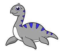 Cute Illustration Of A Loch Ness Monster.
