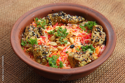 Deurstickers Klaar gerecht Middle East Arabic food. Mundy. Dish cooked with spices - Stock photo