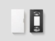 Blank White Video Cassette Tap...