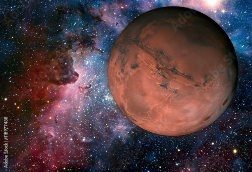 Tuinposter Nasa Solar System - Mars. It is the fourth planet from the Sun.