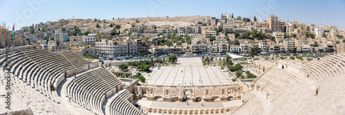 The ancient Roman theatre of Amman Canvas Print