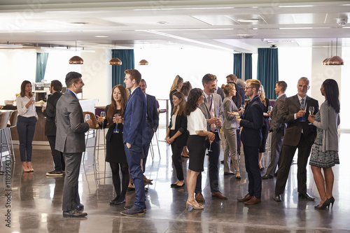 Fotografie, Obraz  Delegates Networking At Conference Drinks Reception