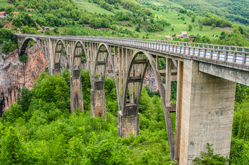 Fototapeta Mosty Bridge over canyon