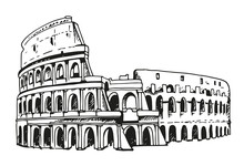 Drawing Of Coliseum, Colosseum...