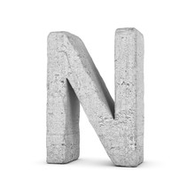 Concrete Letter N Isolated On ...