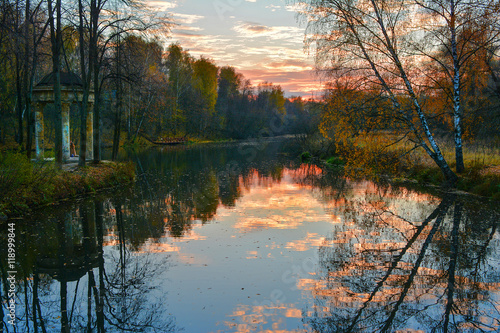 Autumn landscape with river