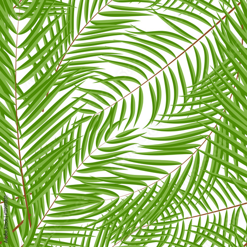 Foto op Canvas Tropische Bladeren Beautifil Palm Tree Leaf Silhouette Seamless Pattern Background