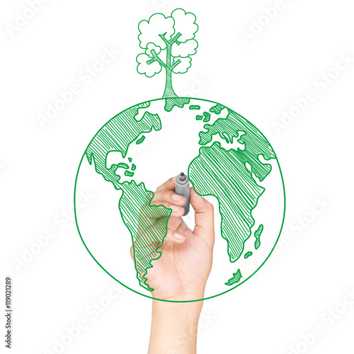 Green World Drawing Concept Buy This Stock Photo And Explore