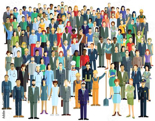 Große Menschenmenge Wallpaper Mural