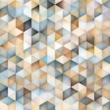 Vector Seamless Multicolor Gradient Triangle Shape Grid Geometric Pattern - 119037844