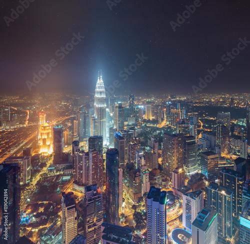 Poster Kuala Lumpur View of central Kuala Lumpur