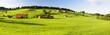 canvas print picture - Panorama Landschaft in Bayern im Allgäu