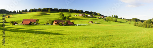 Panorama Landschaft in Bayern im Allgäu Fototapet