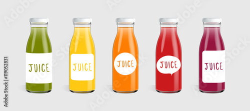 glass juice bottle with label template ready for you design