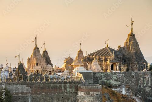 Jain temples on top of Shatrunjaya hill Canvas Print